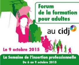 Partenaires présents sur le Forum de la formation pour adultes - CIDJ 09/10/2015