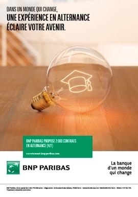 En 2016, BNP Paribas prévoit de recruter 2 000 étudiants en contrat d'alternance