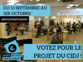 Votez pour le projet du CIDJ au Budget Participatif de la Mairie de Paris