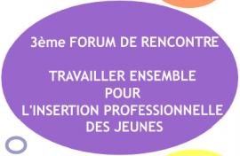 Forum Travailler ensemble pour l'insertion des jeunes - lundi 16 novembre