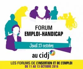 Partenaires présents sur le Forum EMPLOI-HANDICAP - CIDJ 13/10/2016