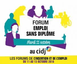 Partenaires présents sur le Forum de l'emploi sans diplôme - CIDJ 11/10/2016