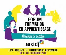 Partenaires présents sur le Forum de la formation en apprentissage - CIDJ 12/10/2016
