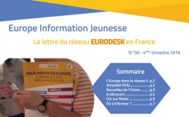 Parution d'Europe Information Jeunesse n°50, la lettre du réseau Eurodesk en France