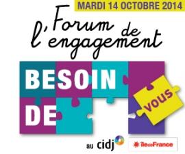 Partenaires présents sur le Forum de l'engagement - CIDJ 14/10/2014
