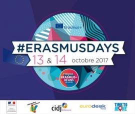 Rencontre Erasmusdays, 30 ans du programme Erasmus+, le 13 octobre 2017 au CIDJ
