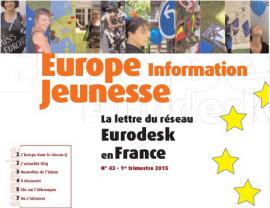Parution du numéro 43 d'Europe Information Jeunesse, la lettre du réseau Eurodesk en France