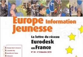 Parution du numéro 45 d'Europe Information Jeunesse, la lettre du réseau Eurodesk en France