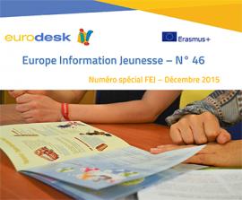 Parution du numéro 46 d'Europe Information Jeunesse, la lettre du réseau Eurodesk en France