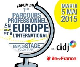 Partenaires présents sur le Forum du 1er parcours professionnel en Europe et à l'international - 05/05/2015, au CIDJ