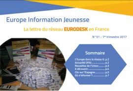 Parution d'Europe Information Jeunesse 51, la lettre du réseau Eurodesk en France