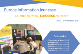 Parution d'Europe Information Jeunesse n°52, la lettre du réseau Eurodesk en France