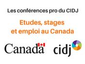 """Conférence pro """"Etudes, stages et emploi au Canada"""" le 28 septembre au CIDJ"""