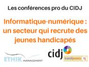 Informatique-numerique : retour sur la conférence handipro du 10 mars 2016 au CIDJ