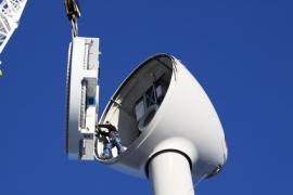 Technicien de maintenance sur éolienne