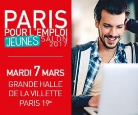 Paris pour l'emploi des jeunes, le rdv du recrutement des moins de 30 ans, c'est le 7 mars 2017
