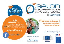 18 mars 2017 : Salon des séjours linguistiques et des voyages scolaires au Lycée Henri IV (Paris)