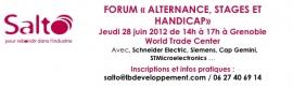 Forum Salto Alternance, stage et handicap à Grenoble
