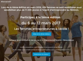 Les femmes entrepreneures témoignent du 7 au 12 mars 2017