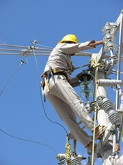 Technicien de ligne à haute tension
