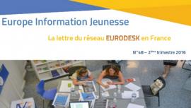 Parution d'Europe Information Jeunesse 48, la lettre du réseau Eurodesk en France