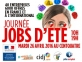 Journée Jobs d'été 2016
