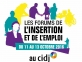 Les Forums de l'insertion et de l'emploi du 11 au 13 octobre 2016, au CIDJ.