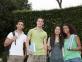 Groupe jeunes étudiants