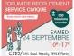 Forum de recrutement Service Civique - 24 septembre 2016