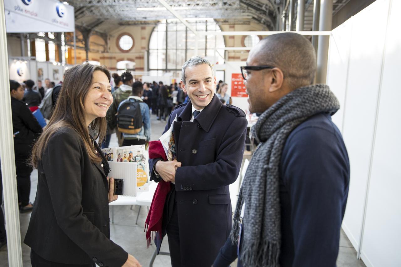 Jean Benoît Dujol et Sophie Bosset Montoux à Jobs d'été Paris