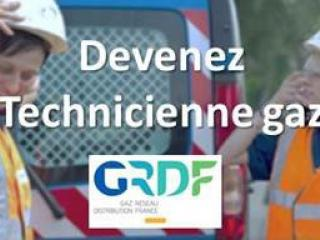 Technicienne gaz en mission chez GRDF
